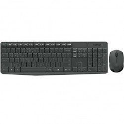 Kit tastatura si mouse wireless Logitech MK235